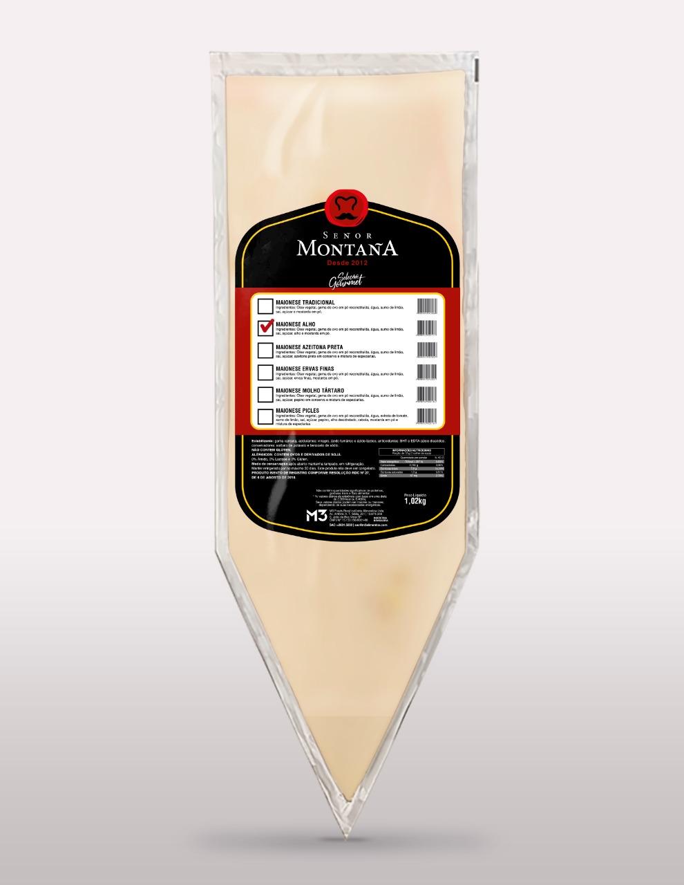 MAIONESE GOURMET SABOR ALHO SEÑOR MONTAÑA M3 (COD. 558)  - Chef Distribuidora