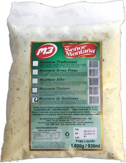MAIONESE GOURMET SABOR AZEITONAS PRETAS SEÑOR MONTAÑA M3 (COD. 32115)  - Chef Distribuidora