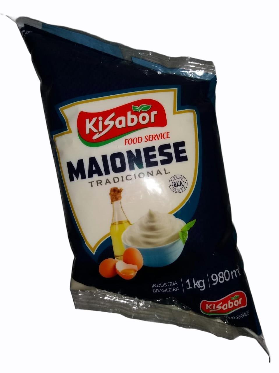 MAIONESE TRADICIONAL KISABOR 1 KG (11437)  - Chef Distribuidora
