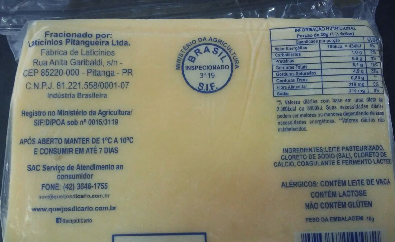 MUSSARELA FATIADA E INTERFOLHADA DICARLO 500g (COD.19633)  - Chef Distribuidora