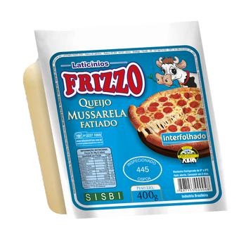 MUSSARELA FATIADA E INTERFOLHADA FRIZZO 400g (Cod.12633)  - Chef Distribuidora