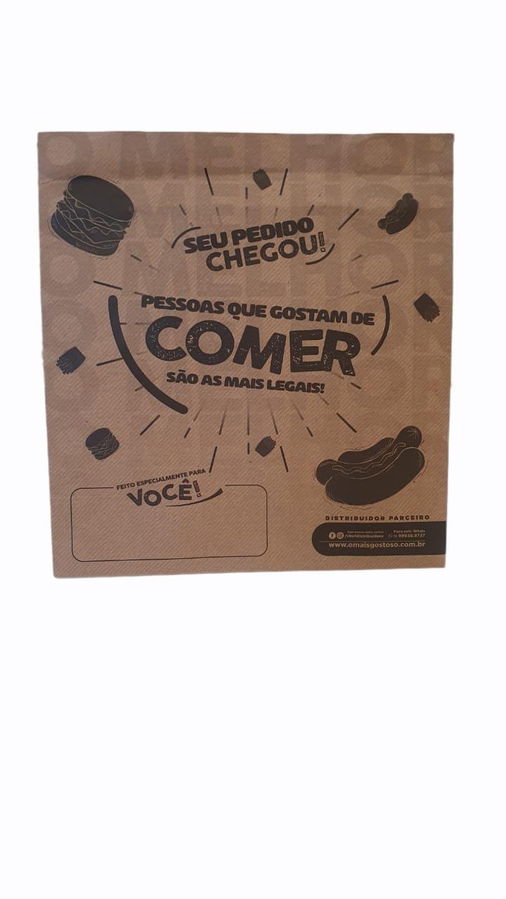 SACO KRAFT PARA LANCHE PCTE C/20 UNID. (COD.13893)  - Chef Distribuidora
