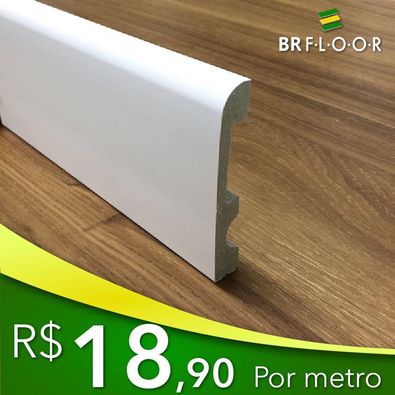 Rodapé Aqua BR Floor 10cm Boleado - Barra com 2,25m (BR100-2)
