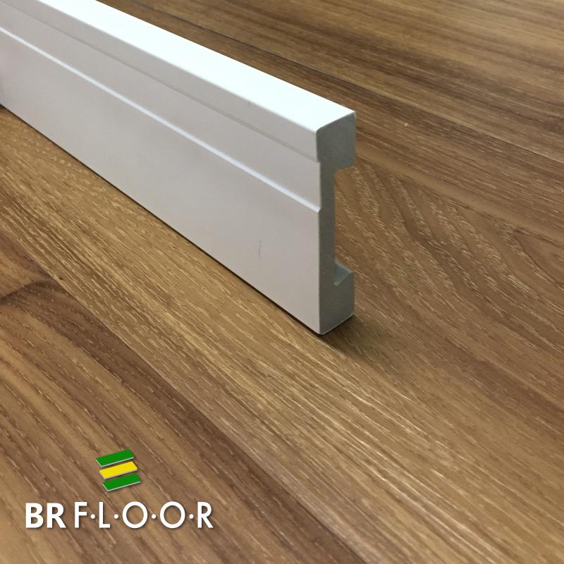 Rodapé Aqua BR Floor 7cm Frisado - Barra com 2,25m (BR70)