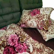 Jogo De Cama Microfibra Plush Fleece Estampado Solteiro 3pc