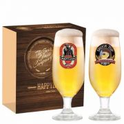 Jogo Taças Cerveja Barcelona Decorado 300ml 2 Peças Ruvolo