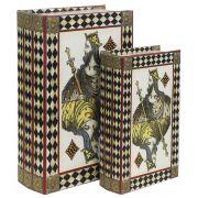 Book Box 2Pçs Rei Baralho Goods Br