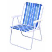 Cadeira Adulto Alta Aço Dobrável Mor