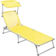 Cadeira Espreguiçadeira Buzios Alum Textil Amarela Bel Fix