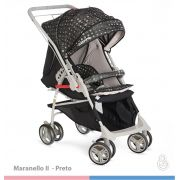 Carrinho Bebê Maranello II  Preto Galzerano