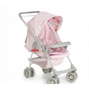 Carrinho Bebê Milano Reversível II Rosa Bebê Galzerano