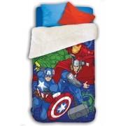 Coberdrom Dupla Face Solteiro Estampado Avengers Lepper