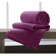Cobertor Manta Microfibra Casal 180x220cm Home Design Cereja Corttex