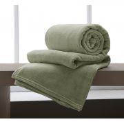 Cobertor Manta Microfibra Casal 180x220cm Home Design Verde Corttex