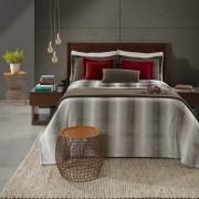 Cobertor Plush Tweed Queen 130x160 Sicilia Taupe Hedrons
