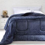 Cobertor Queen Azul Manire Extra Macio Duoblanket Kacyumara