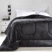 Cobertor Queen Preto Extra Macio Duoblanket Kacyumara