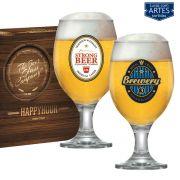 Conjunto de Taças para Cerveja Roma Happy Hour Decorado 400ml 2 Peças Ruvolo