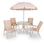 Conjunto Malibu Mesa com 4 Cadeiras Mor