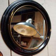 Espelho Redondo de Madeira Decorativo 88cm Btc Decor