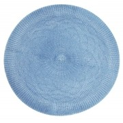 Jogo Americano Redondo Crochet Azul Tyft Yoi