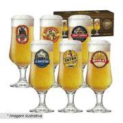 Jogo Taças Cerveja Barcelona Happy Hour 400ml 6 Peças Ruvolo