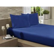 Lençol Avulso Casal Especial 210x260 Azul Marinho Soft