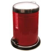 Lixeira 12L Vintage Week Vermelha Yoi