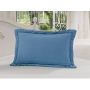 Porta Travesseiro 50 x 70cm 100% Algodão Azul Royal Soft