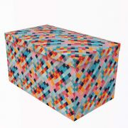 Puff Desmontável Comfort Geometrico Retangular Puff Prime