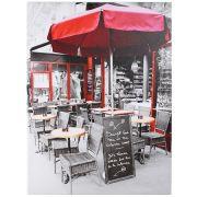 Quadro Decorativo 60x80cm Caffe Ombrelone Vermelho Goods