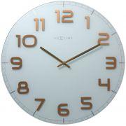 Relógio de Parede Classy Large White Goods Br