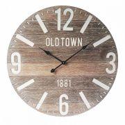 Relógio de Parede em Madeira Old Town 60cm Btc Decor