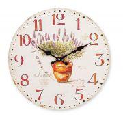 Relógio de parede Vase 34cm MDF Hauskraft