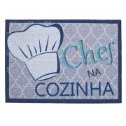 Tapete Avulso Cozinha 50x70cm Pratic Chef na Cozinha Corttex