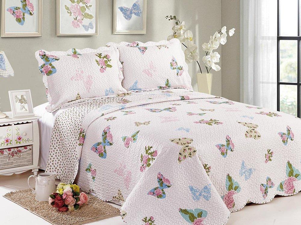 Colcha patchwork 150 casal 3pc papillon camesa r 190 00 em mercado livre - Colcha patchwork ...