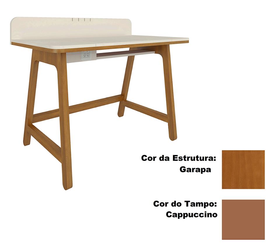 Escrivaninha Dock Cappuccino/Garapa Dioudi