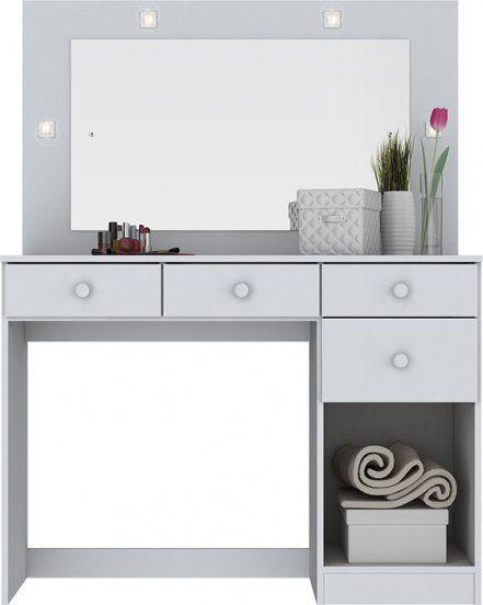 Penteadeira Camarim Branco Chanel Luzes Led e Espelho Henn