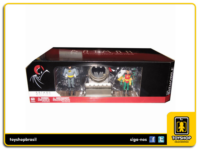 Batman The Animated Series: Batmobile Batman and Robin - Deluxe Pack - Dc Collectibles