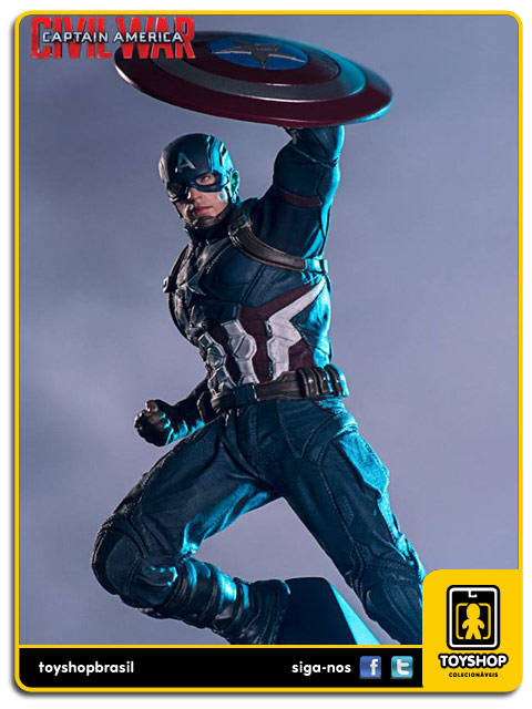 Captain America Civil War: Estátua Captain America   Art Scale 1/10 - Iron Studios