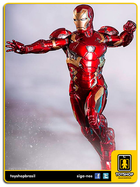 Captain America Civil War Estátua Iron Man XLVI Art Scale 1/10 - Iron Studios