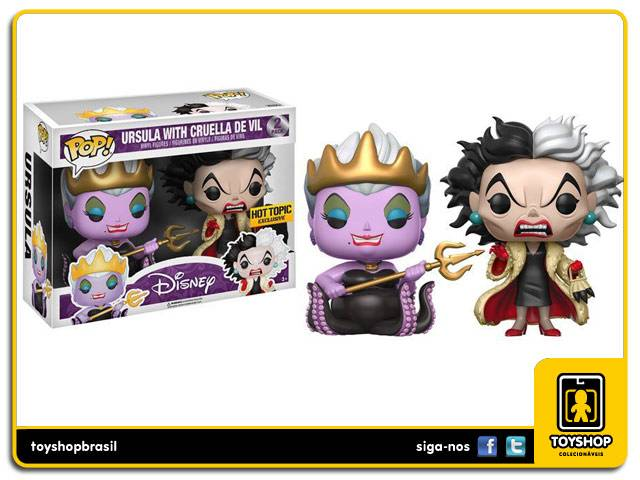 Disney Ursula & Cruella de Vil Hot Topic Exclusive Pop - Funko