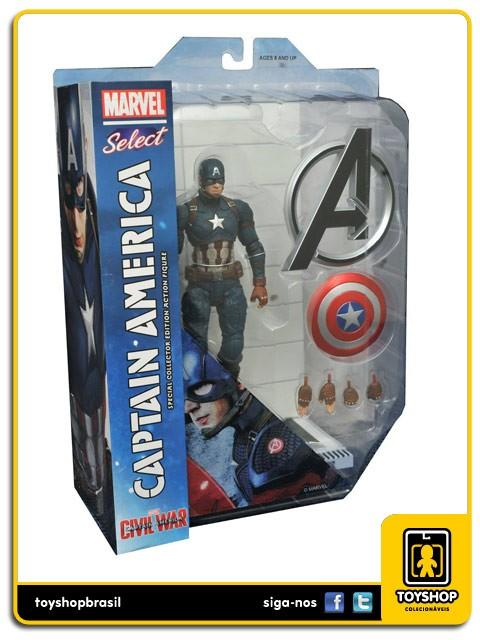 Marvel Select Captain America Civil War Captain America   Diamond