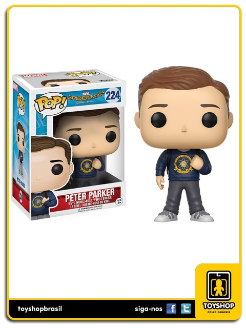 Marvel Spider Man Homecoming  Peter Parker 224 Pop Funko