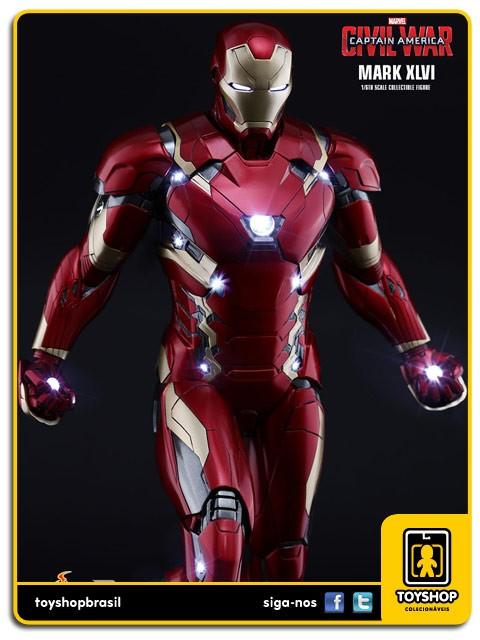 Captain America Civil War Iron Man Mark XLVI Power Pose 1/6 - Hot Toys