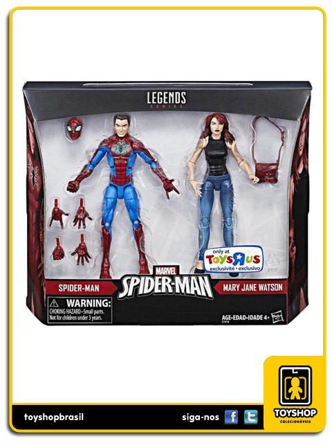 Marvel Legends Spider-Man & Mary Jane Watson Exclusivo Pack 2 Figuras  Hasbro