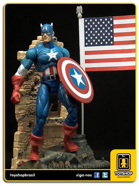 Marvel Legends Series I Captain America Toy Biz