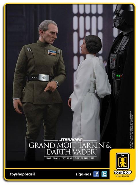 Star Wars 40th Anniversary A New Hope Grand Moff Tarkin & Darth Vader 1/6  Hot Toys
