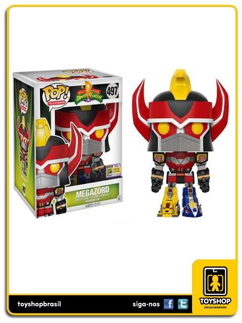 Power Rangers Mighty Morphin Megazord SDCC 497 Pop  Funko