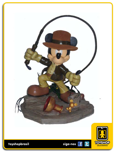 Estátua Mickey Mouse as Indiana Jones - Disney